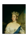 Portrait of Queen Victoria (Detail) Giclee Print by Sir Francis Grant
