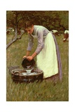 Watering the Cows Giclee Print by Henry Herbert La Thangue