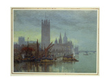 Twilight from Lambeth Bridge Giclee Print by Herbert Menzies Marshall