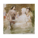 Columbus (1451-1506) and Queen Isabella (1451-1504) 1836 Giclee Print by Sir David Wilkie