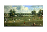 Cricket Match at Brading, Isle of Wight, 1760 Giclee Print by  English School
