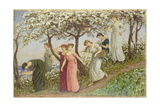 Through the White Flowers, 1891 Giclee Print by Kate Greenaway