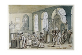 The Interior of the Pump Room, Bath, 1790 Gicleetryck av John Nixon