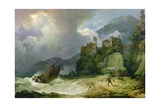 Smugglers Landing in a Storm, 1791 Giclee Print by Philip James De Loutherbourg