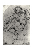 Seated Male Nude Giclee Print by  Michelangelo Buonarroti
