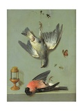 Still Life with Birds and Insects, 1713 Giclee Print by Jean-Baptiste Oudry