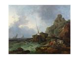 Fishermen Trawling in Nets, c.1767 Giclee Print by Philip James De Loutherbourg