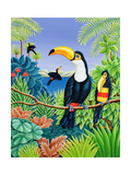 Toucans, 1993 Giclee Print by Liz Wright