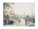 The Crescent, Cheltenham, 1821 Giclee Print by Daniel Thomas Egerton