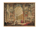 The Gallery of Cardinal Silvio Valenti-Gonzaga in Rome, 1749 Giclee Print by Giovanni Paolo Pannini