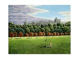 Streaking at Windsor Castle, 1988 Giclee Print by Liz Wright