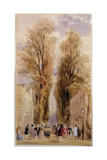 The Old Well Walk, Cheltenham, c.1840 Giclee Print by Thomas Shotter Boys