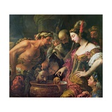 Queen Tomyris with the Head of Cyrus the Great Giclée-tryk af Antonio Zanchi
