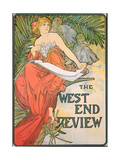 Poster Advertising 'The West End Review', 1898 Giclee Print by Alphonse Mucha
