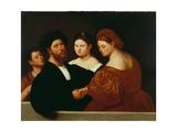 Family Portrait Giclee Print by Bernardino Licinio