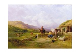 Milking Time on the Swale, Yorkshire, 1863 Giclee Print by George Cole