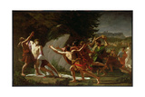 Death of Caius Gracchus (C.159-121 BC) 1792-97 Giclee Print by Francois Jean-baptiste Topino-lebrun
