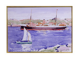 Steamer and Yacht, Iona Giclee Print by Francis Campbell Boileau Cadell