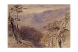 Carrara, 1861 Giclee Print by Edward Lear