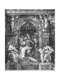 Pope Sylvester I (314-335) Between Faith and Religion, Raphael Rooms (See Giclee Print by Giulio Romano