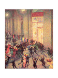 Riot in the Galleria, 1909 Giclee Print by Umberto Boccioni