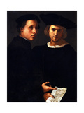 The Two Friends Giclée-tryk af Jacopo Pontormo