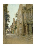 Rue Coursarlon, Bourges, c.1890 Giclee Print by Léon Augustin L'hermitte