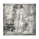 Sketch with Architectural Studies and a Male Nude Giclee Print by  Michelangelo Buonarroti