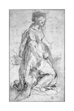 Study for the Figure of the Virgin Giclee Print by Federico Fiori Barocci or Baroccio