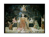 Allegory of Good Government, Detail of Justice Inspired by Wisdom, 1338-40 Giclee Print by Ambrogio Lorenzetti