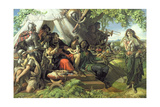 King Cophetua and the Beggar Maid Giclee Print by Daniel Maclise