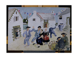 Dancing Sailors, Brittany, 1930 Giclee Print by Christopher Wood