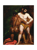 The Wrestlers, 1835-45 Giclee Print by William Etty