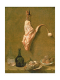 Still Life with a Leg of Veal Giclee Print by Jean-Baptiste Oudry