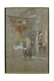 Venetian Courtyard: Corte Bollani, 1880 Giclee Print by James Abbott McNeill Whistler