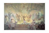 The Oath of Omladina under the Slavic Linden Tree, from the 'Slav Epic', 1926 Giclee Print by Alphonse Mucha