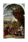 Nativity with Saints Helena, Catherine and Tobias the Angel Giclee Print by Giovanni Battista Cima Da Conegliano