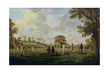 Game of Cricket, c.1790 Giclee Print by  English School