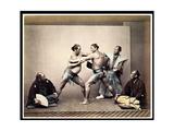 Sumo Wrestlers, c.1870-80 Giclee Print by Felice Beato