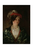 Lady in a Feathered Bonnet Giclee Print by Thomas Faed