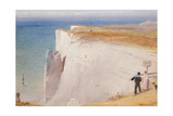 The Coastguard's Story, Beachy Head, 1908-09 Giclee Print by Albert Goodwin