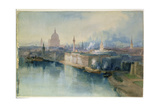 London from the Tower Bridge, 1914 Giclee Print by Richard Henry Wright