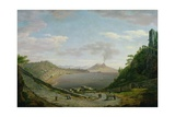 View of the Bay of Naples with Mount Vesuvius in the Distance Giclee Print by William Marlow
