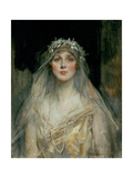 Portrait of a Bride Giclee Print by James Jebusa Shannon
