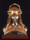 Head of a Girl, 1900 (Bronze, Silver and Parcel Gilt) Giclee Print by Alphonse Mucha
