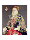Mary Denton, Nee Martyn, Aged 15 in 1573 Giclee Print by George Gower