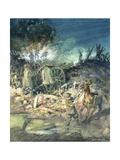 Battle Scene Giclee Print by John Cameron
