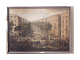 View of the Cours Belsunce, Marseilles, During the Plague of 1720, 1721 Giclee Print by Michel Serre
