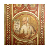 Maesta: Isaiah, Detail from the Frame, 1315 (Detail) Giclee Print by Simone Martini