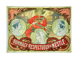 Hommage Respectueux De Nestle, 1897 Giclee Print by Alphonse Mucha